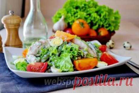 Салат с курицей и йогуртом