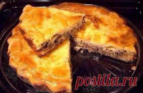 Заливной мясной пирог... Легче рецепта просто не бывает!