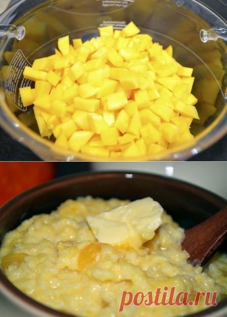 Пшенная каша на молоке с тыквой, томленая в горшочке / Простые рецепты