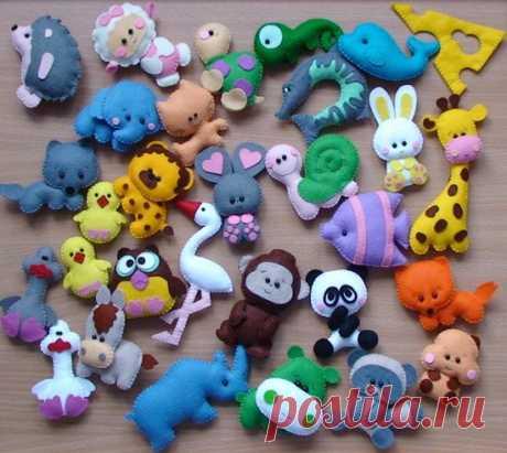 Los juguetes del fieltro: los patrones por las manos – palchikovye, que desarrollan