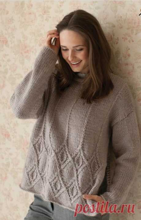 Подборка стильных пуловеров спицами: 16 проектов | Вязание и творчество | Яндекс Дзен