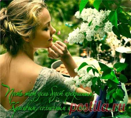 ПУСТЬ ЭТОТ ДЕНЬ ПРЕКРАСНЫМ БУДЕТ!!! И все сбываются мечты. Пусть солнце светит тебе всюду И улыбаются цветы. О чем мечтается, то и сбудется, Что не ладится, то забудется, Пусть хорошее - только множится И удачно все в жизни сложится. День пусть будет без сомнений, И печалей на душе! Пусть сегодня все случится, Так, как хочется тебе!