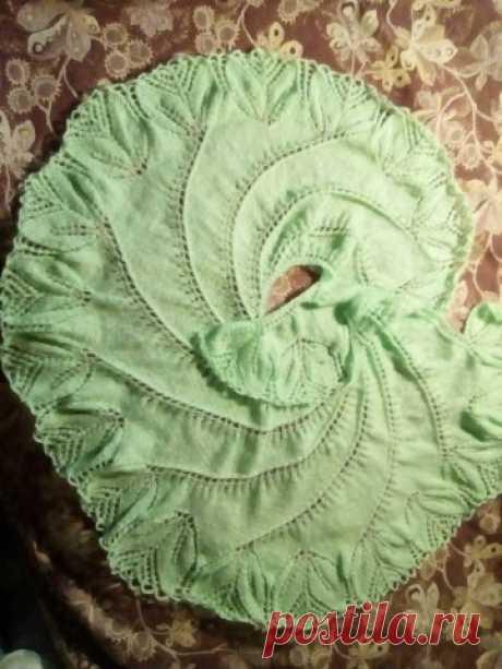 Бегониевый вихрь - запись пользователя Мухубу (Елена) в сообществе Вязание спицами в категории Вязание шали спицами