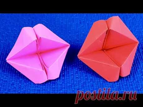 Оригами Прикольные Говорящие Губы из бумаги/