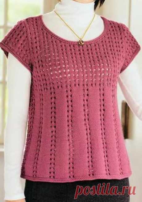 Топ спицами | Вязание и рукоделие