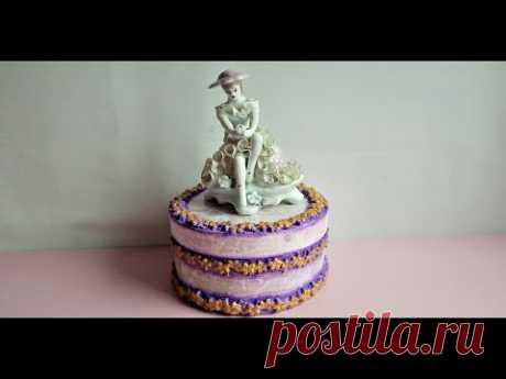 CUTIE decorata cu pasta de portelan - BOX decorated with porcelain paste