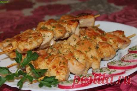 Как приготовить куриные грудки на шпажках - рецепт, ингредиенты и фотографии