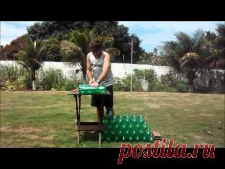 +++ Как сделать пуфик из пластиковых бутылок +++