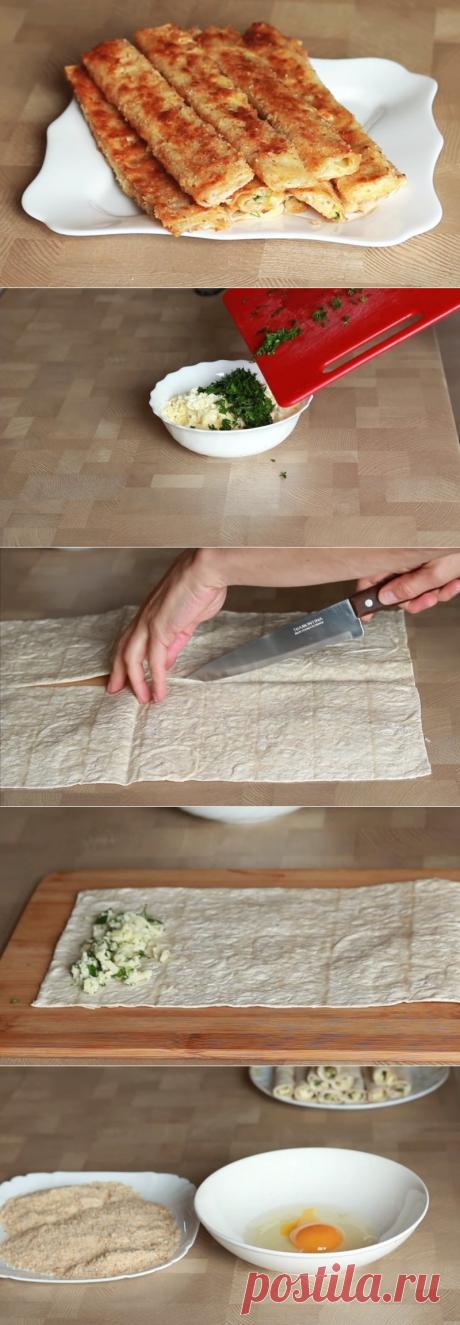 """Закуска """"Сырные палочки"""" за 10 минут - восхитительный рецепт!"""