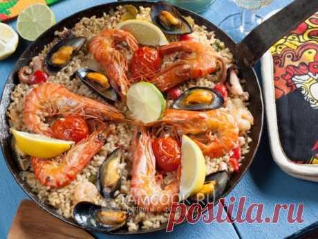 Паэлья с морепродуктами —  валенсийский рецепт