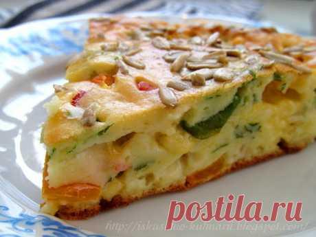 Постигая искусство кулинарии... : Быстрый и универсальный закусочный пирог.