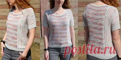 Пуловер с полосками Slipping Sideways - Вяжи.ру