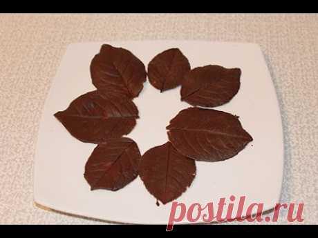 De chocolate listiki para la torta