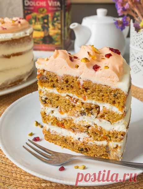 Рецепт морковно-тыквенного торта на Вкусном Блоге