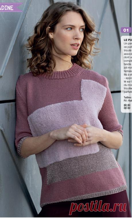 Очень интересные модели из французского журнала, связанные спицами. | Вяжем с Еленой Коротенко | Яндекс Дзен