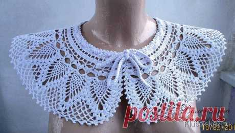 Openwork collar. Valentina Litvinova's work   Ball
