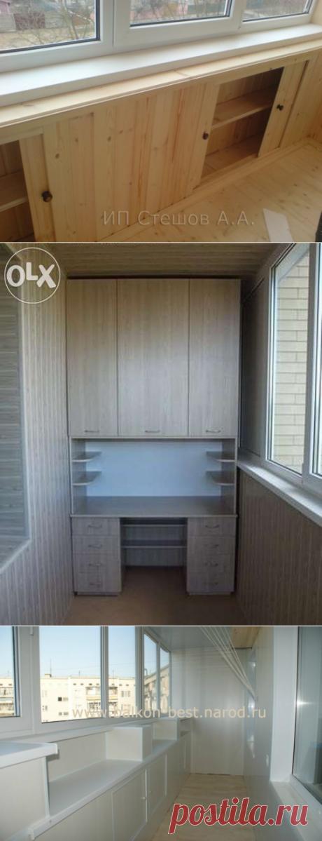 Системы хранения и шкафы на балкон - 30 идей
