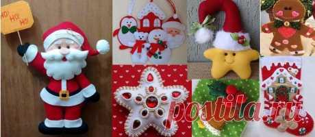 100 Enfeites de Natal em Feltro com Moldes - Como Fazer