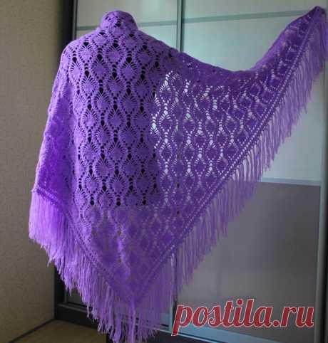 Несколько красивых схем, по которым можно связать теплую и оригинальную шаль   Ольга knits спицами и крючком   Яндекс Дзен