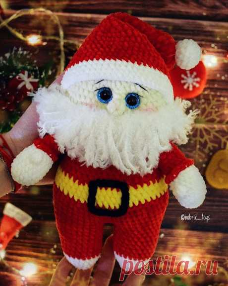 PDF Дед Мороз крючком. FREE crochet pattern; Аmigurumi doll patterns. Амигуруми схемы и описания на русском. Вязаные игрушки и поделки своими руками #amimore - Дед Мороз, Новый год, новогодняя кукла, куколка.