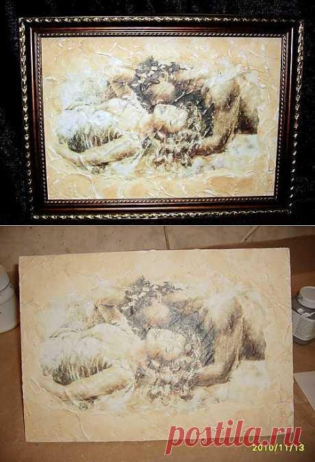создание фрески, МК