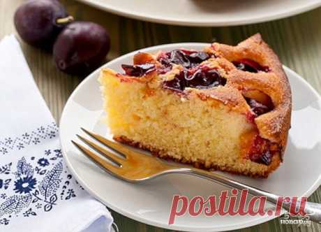 Пирог со сливами в мультиварке - рецепт с фото на Повар.ру