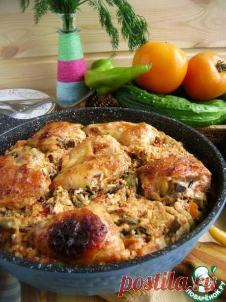 Ленивая сковорода с рисом и курицей - кулинарный рецепт