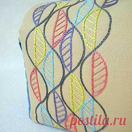 Стебельчатый и тамбурный шов. Вышивка декоративными швами