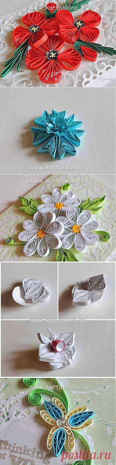 Как делать квиллинг цветы. Обзорный мастер-класс | КАРТОНКИНО.ru