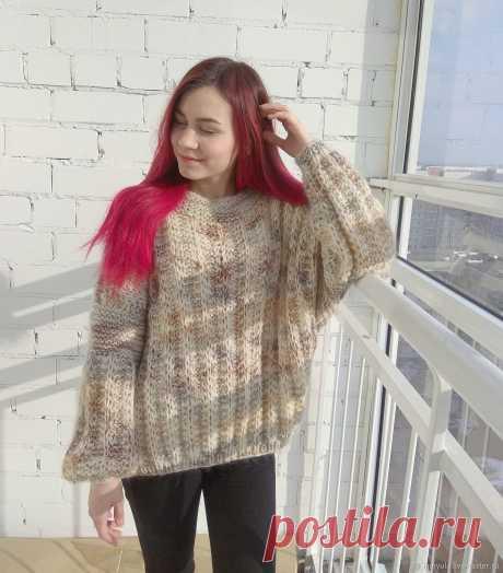 Женский объёмный тёплый свитер оверсайз из мохера – купить в интернет-магазине на Ярмарке Мастеров с доставкой - IG51ZRU | Набережные Челны