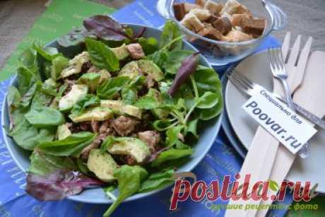Салат из киноа, авокадо и тунца