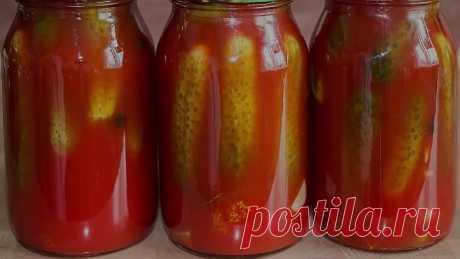Огурцы в томатном соке с чесноком, укропом, хреном, сладким и горьким перцем «Кровавая Мэри»