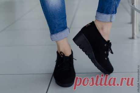 Туфли валяные Black-2 – купить в интернет-магазине на Ярмарке Мастеров с доставкой - 9HU4VRU   Днепр