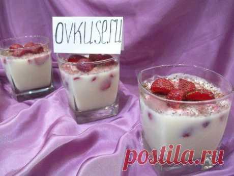 Молочное суфле с клубникой / Простые рецепты