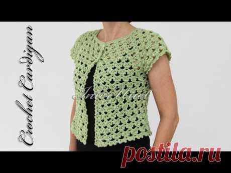 Button-up Lace Jacket Cardigan Crochet Pattern
