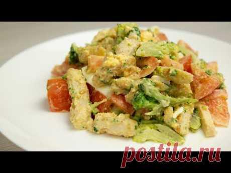 Легкий салат без майонеза на каждый день