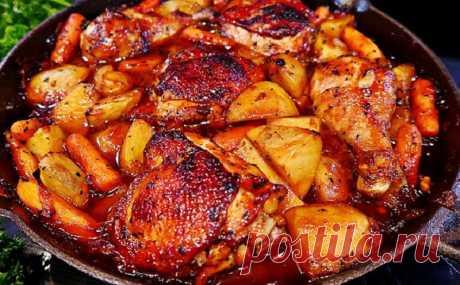 Курица с картофелем по испанскому рецепту с особенным соусом | Готовить может каждый | Яндекс Дзен