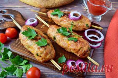 Люля кебаб из куриного фарша в духовке рецепт с фото пошагово - 1000.menu