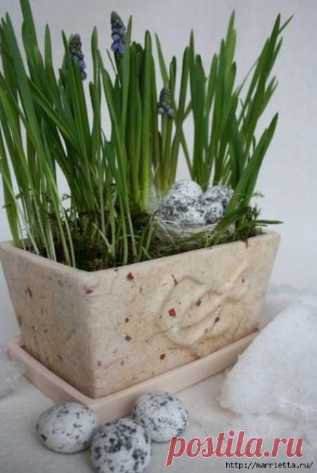 Декорирование цветочных горшков. Идеи и мастер-классы.