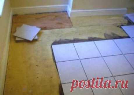 Укладка плитки на деревянный пол в доме своими руками: можно ли класть? Пошаговая инструкция +Видео
