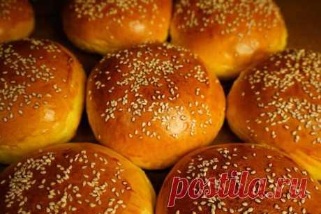 Пышные и мягкие булочки для гамбургеров и бургеров на воде  без молока.