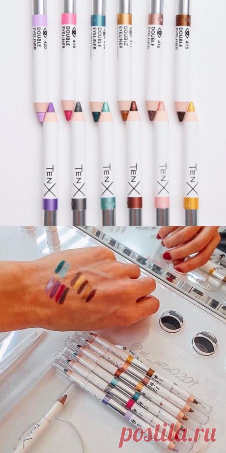 Двойные карандаши для глаз и тональный крем Tenx | nlstars