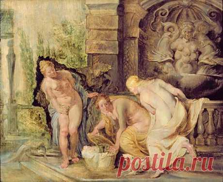 Нахождение Эрихтония дочерьми Кекропса. Питер Пауль Рубенс. Описание картины, скачать репродукцию.