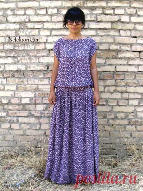 Очень простая выкройка стильного платья