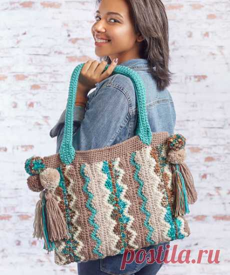 Flame Stitch Bag | Red Heart