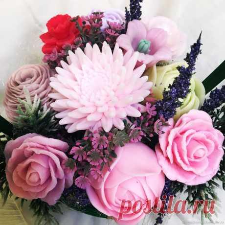 Букет цветов из мыла – купить в интернет-магазине на Ярмарке Мастеров с доставкой Букет цветов из мыла - купить или заказать в интернет-магазине на Ярмарке Мастеров | Букет цветов из мыльной основы производства…