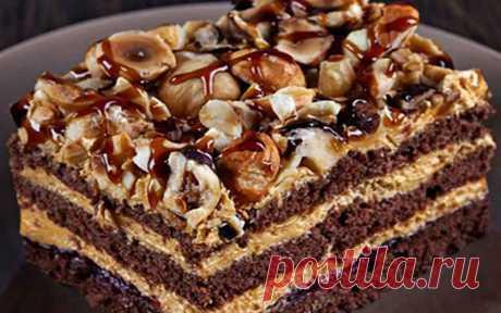 Торт шоколадный «Арабские сказки» Вкуснейший многослойный торт «Арабские сказки» состоит из 4 шоколадных коржей, промазанные нежнейшим лимонным кремом
