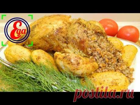 Удачное блюдо для праздничного стола - фаршированная курица