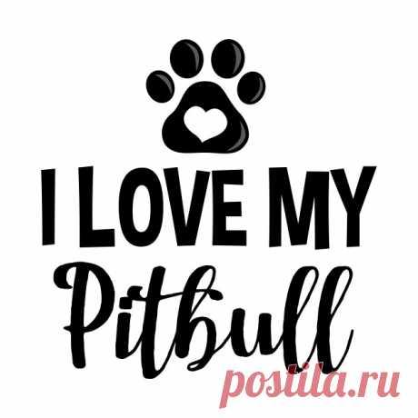 I Love My Pitbull (V1) - Pitbull Lover - Camiseta | TeePublic MX
