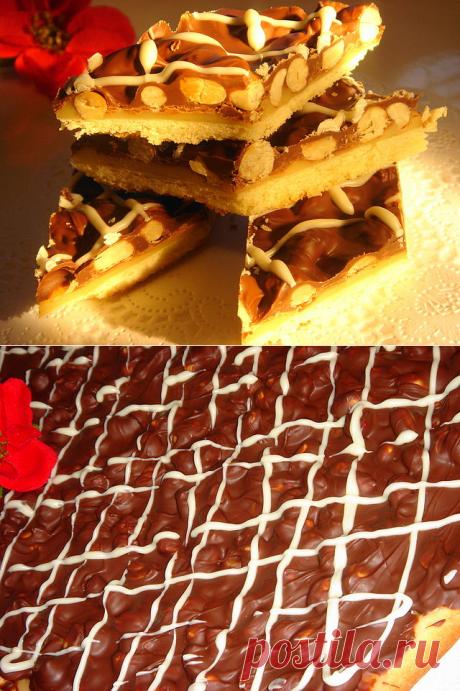 Печенье с нугой,шоколадом и орехами ~ (ТВИКС - 2)